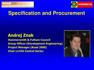 Specification and Procurement