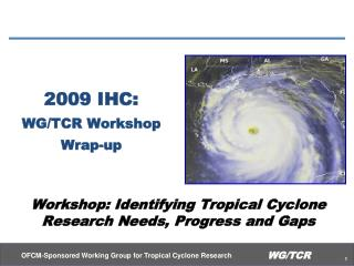 2009 IHC: WG/TCR Workshop Wrap-up