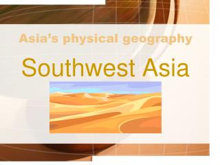 Asia's physical geography