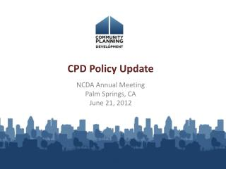 CPD Policy Update
