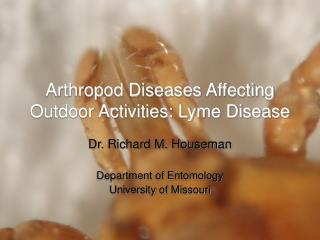 Arthropod Diseases Affecting Outdoor Activities: Lyme Disease