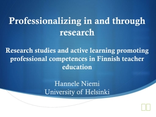 How to integrate  basic research skills  in  teaching and learning