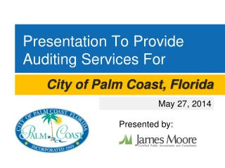 Presentation To Provide  Auditing Services For