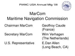 MarCom Maritime Navigation Commission