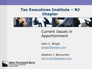 Tax Executives Institute – NJ Chapter