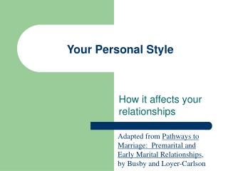Your Personal Style