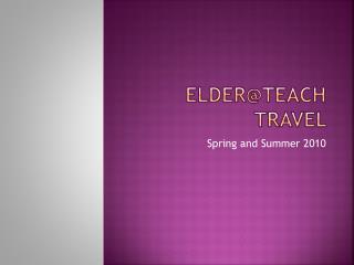 Elder@teach travel
