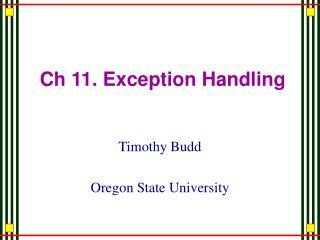 Ch 11. Exception Handling