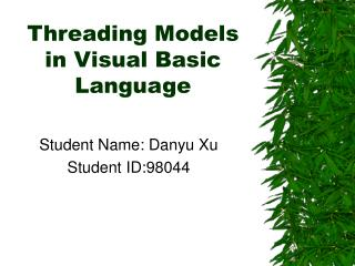 Threading Models in Visual Basic Language