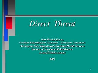 Direct Threat