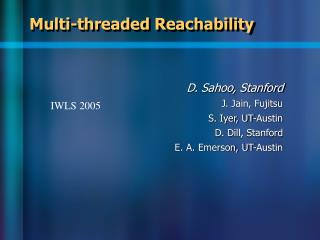 Multi-threaded Reachability