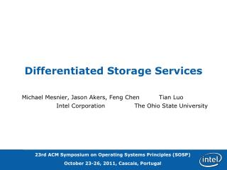 Differentiated Storage Services