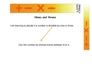 Nines and threes
