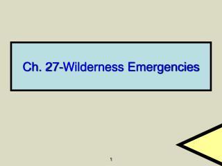 Ch. 27-Wilderness Emergencies