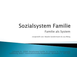 Sozialsystem Familie
