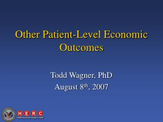 Other Patient-Level Economic Outcomes