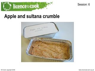 Apple and sultana crumble