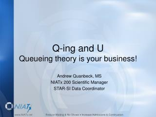 Q-ing and U Queueing theory is your business!