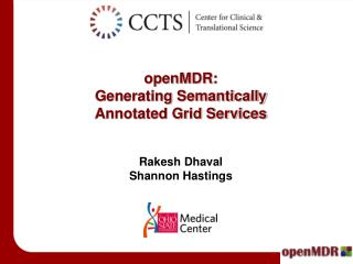 openMDR: Generating Semantically Annotated Grid Services