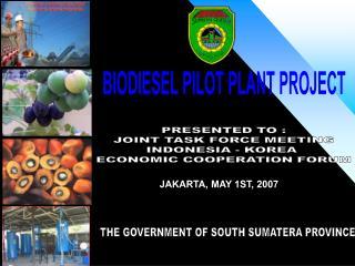 BIODIESEL PILOT PLANT PROJECT