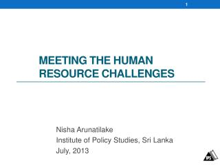 Meeting the  Human resource Challenges