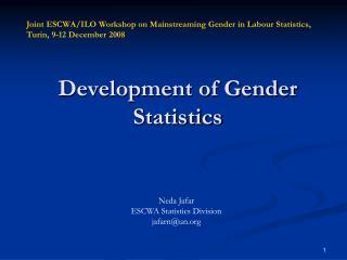 Development of Gender Statistics