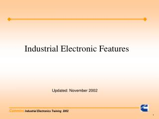 Industrial Electronic Features