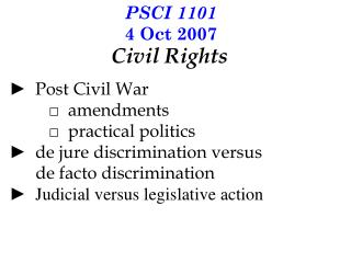 PSCI 1101 4 Oct 2007