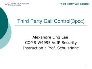 Third Party Call Control(3pcc)