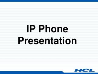 Cisco IP Phone Presentation