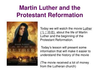 Martin Luther and the Protestant Reformation