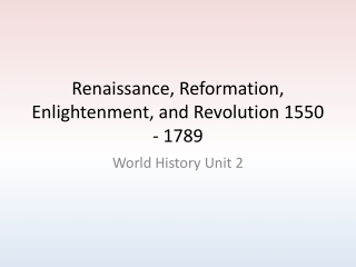 Enlightenment and Revolution 1550   1789