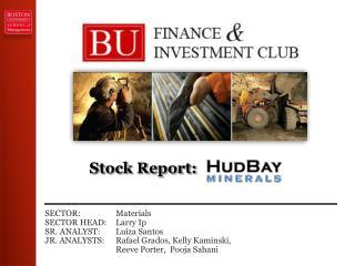 Stock Report:
