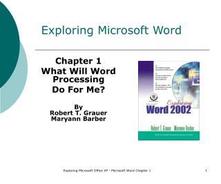 Exploring Microsoft Word