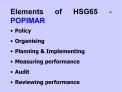 Elements of HSG65 - POPIMAR
