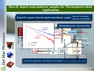 Heavily doped semiconductor samples for Thermophotovoltaic Applications