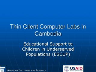 Thin Client  Computer Labs  in Cambodia