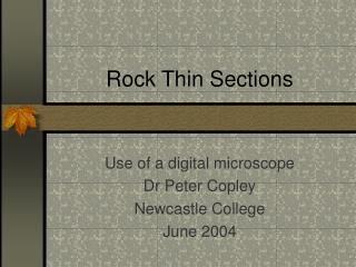 Rock Thin Sections