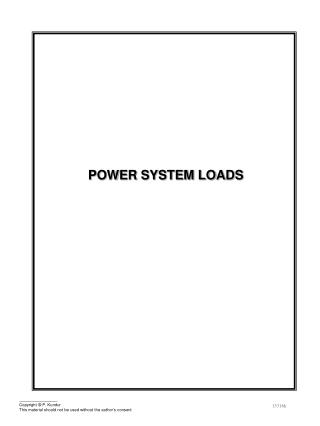 POWER SYSTEM LOADS