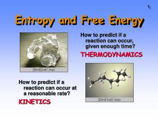Entropy and Free Energy