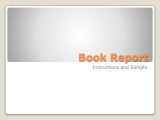 book report powerpoint