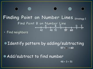 Finding Point on Number Lines Find Point B on Number Line
