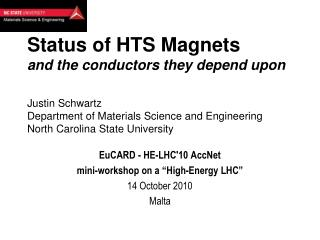 "EuCARD  - HE-LHC'10  AccNet mini-workshop on a ""High-Energy LHC"" 14 October 2010 Malta"