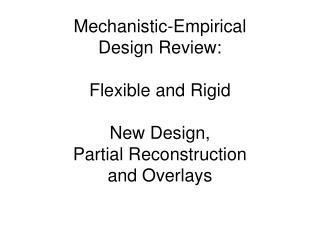 Flexible ME Review