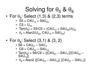 Solving for   5  &  6
