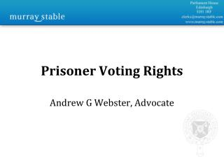 Prisoner Voting Rights
