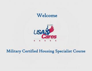 Military Certified Housing Specialist Course