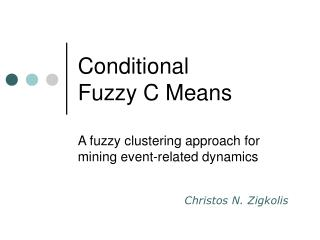 Conditional  Fuzzy C Means