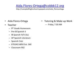 Aida.Flores-Ortega@cobbk12 campbellhighschool.typepad/aida_floresortega