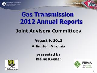 Gas Transmission 2012 Annual Reports